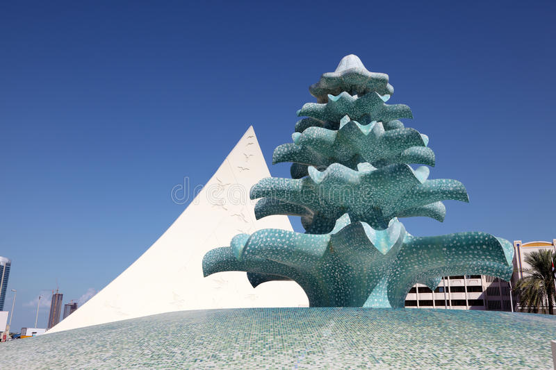 Fountain in the city of Abu Dhabi royalty free stock images