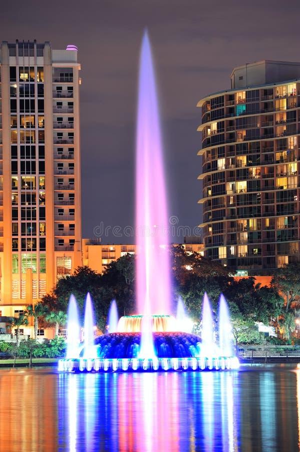 Fountain closeup in Orlando stock photos