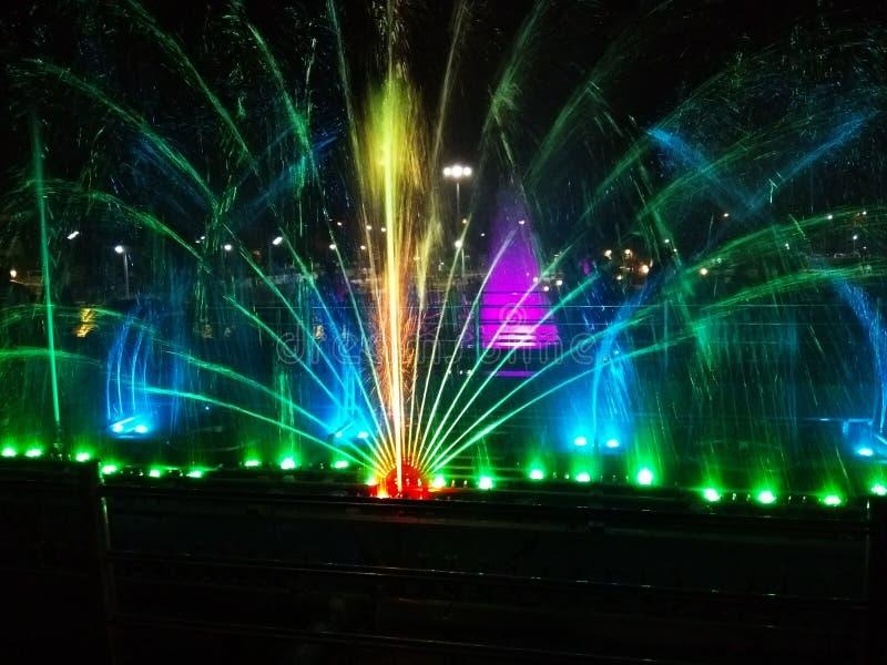Fountain colours stock image