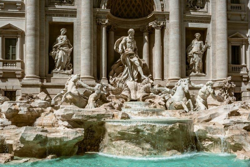 The fountain de Trevi, Rome stock photography