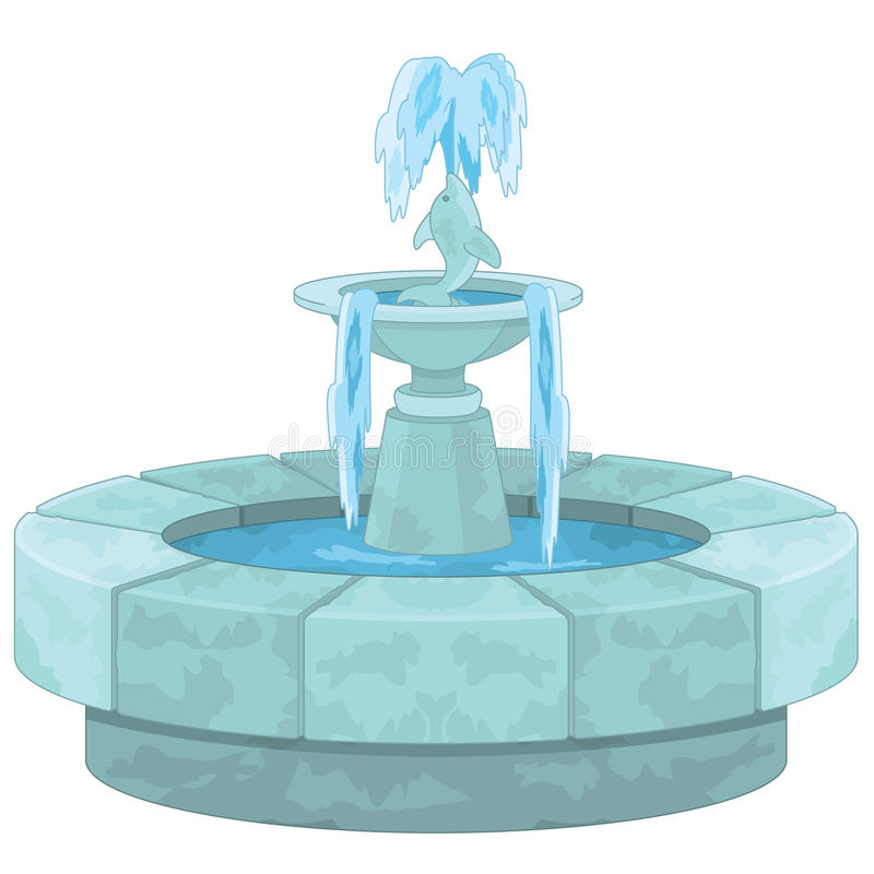 Fountain vector illustration