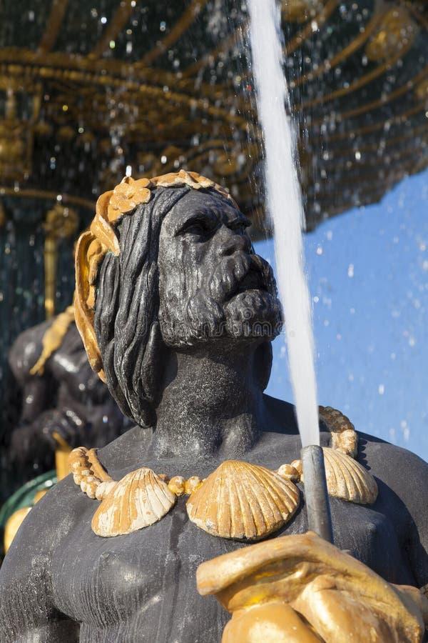 Fountain des Mers, Concorde square, Paris. Ile de France, France royalty free stock photography