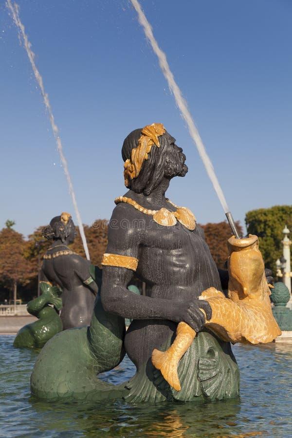 Fountain des Mers, Concorde square, Paris. Ile de France, France stock images