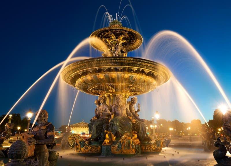 Fountain des Mers. At the Place de la Concorde in Paris stock image