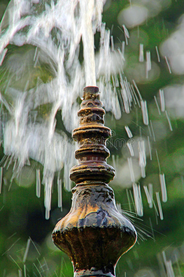 Fountain detail. Photo of an ornate fountain spout. photo taken 19th december 2015 stock photography