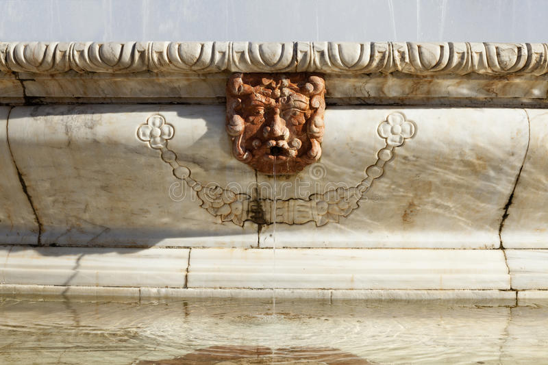 Fountain detail stock photography