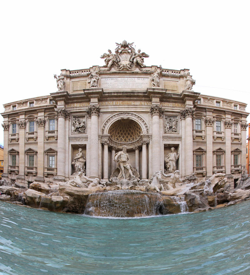 Fountain Di Trevi Stock Photo