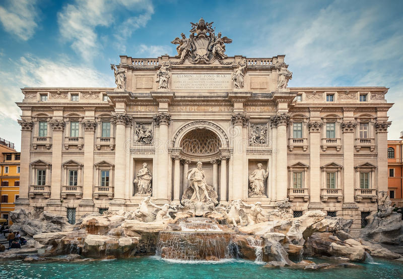 Download Fountain di Trevi stock image. Image of marble, flowing - 29407403