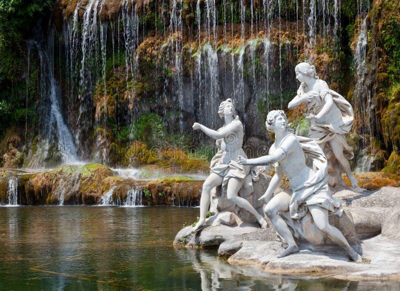 Download Fountain Of Diana And Actaeon, Royal Palace, Caserta, Italy Stock Photo - Image of italy, ninfe: 39508452