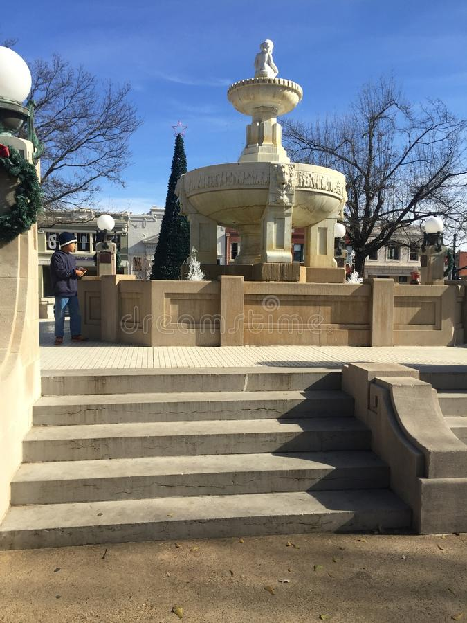 The fountain in downtown Paris Texas royalty free stock images