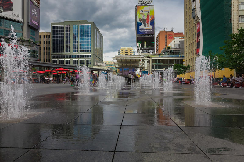A fountain in downtown royalty free stock photography