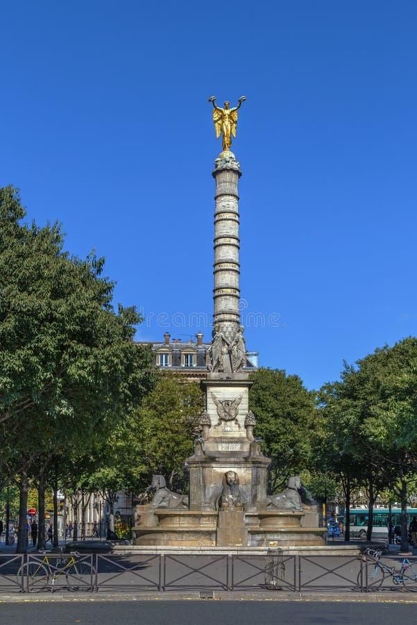 Fountain du Palmier, Paris image stock