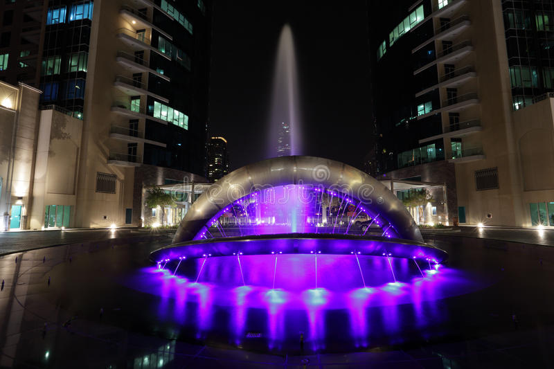 Download Fountain at Dubai Marina stock image. Image of downtown - 20543683