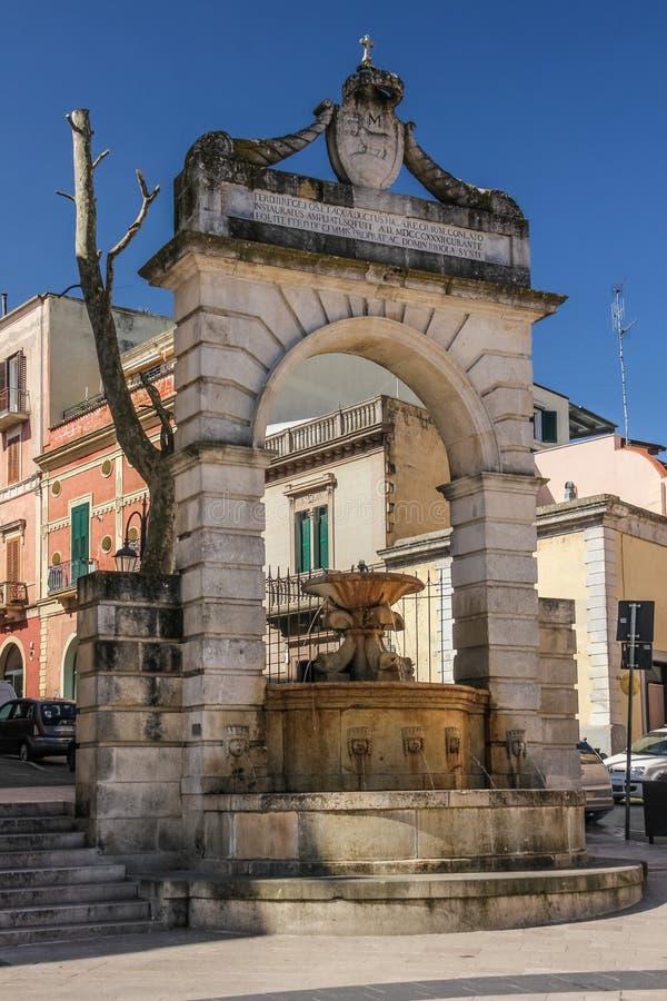 Fountain Ferdinandea. Matera. Basilicata. Apulia. Italy royalty free stock photo
