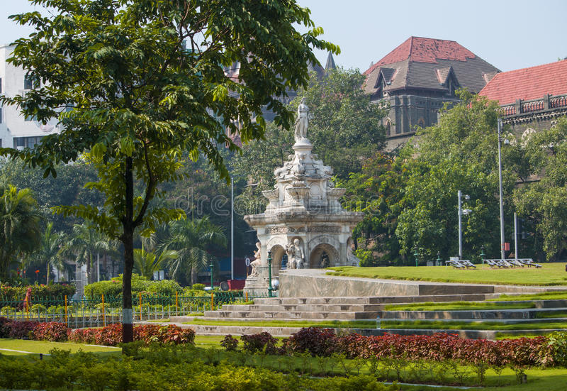 Fountain Flora in the city of Mumbai royalty free stock image