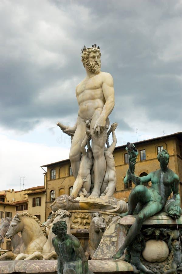 Fountain Florence Tuscany Italy stock photo