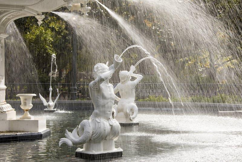 Fountain in Forsythe Park, Savannah stock photography