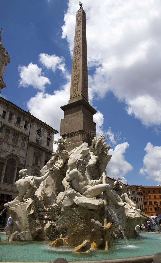 Download Fountain Of The Four Rivers Stock Photography - Image: 27788292
