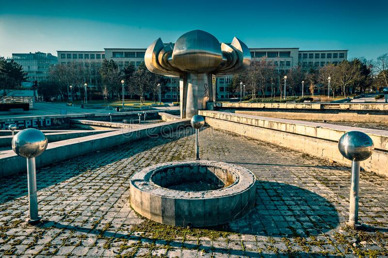 Fountain in Freedom Square royalty free stock image