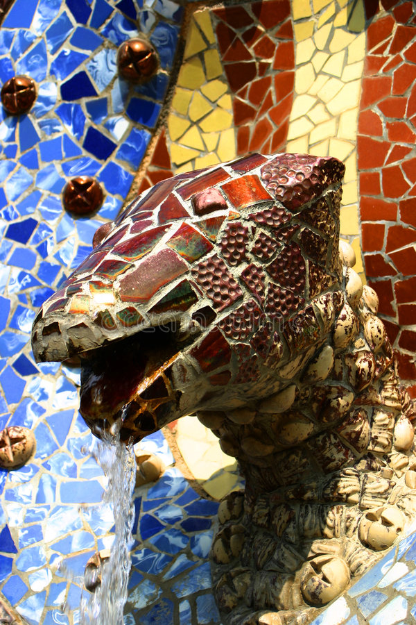 Fountain By Gaudi Royalty Free Stock Image