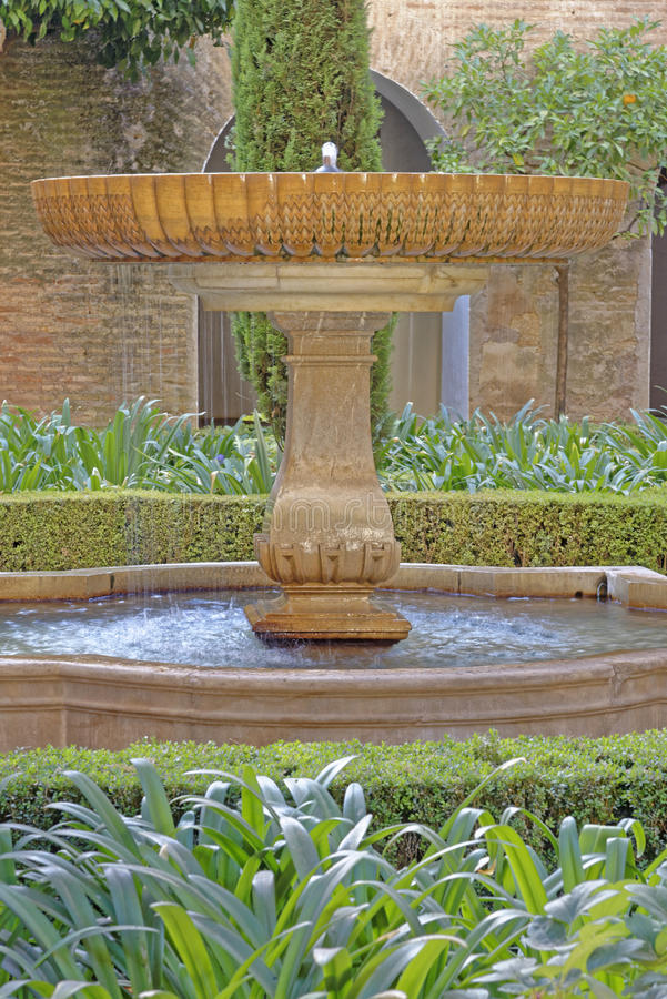 Fountain In The Generalife, Granada Stock Image - Image of garden ...
