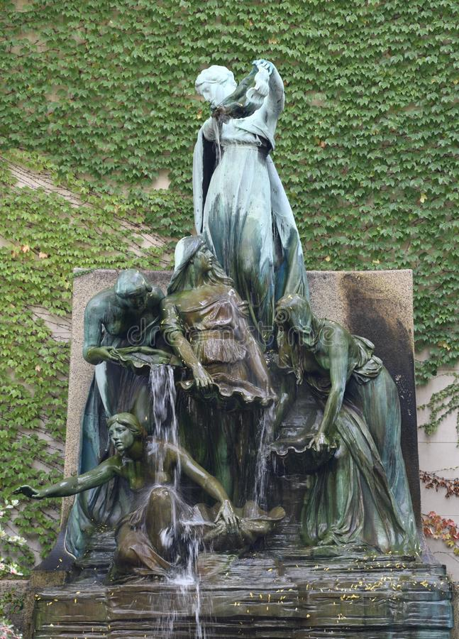 Fountain of the Great Lakes. This is a Fall picture a piece of public art titled: Fountain of the Great Lakes, on exhibit in the South Garden of the Chicago Art royalty free stock photography