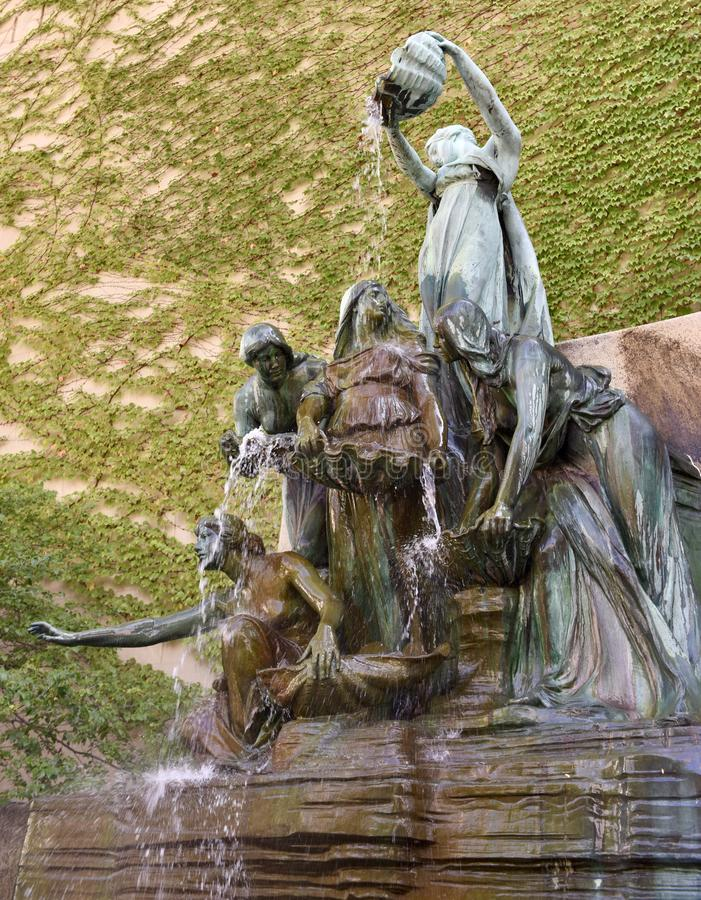 Fountain of the Great Lakes. This is a Summer picture of the iconic Fountain of the Great Lakes at the Chicago Art Institute located in Chicago, Illinois in Cook stock images