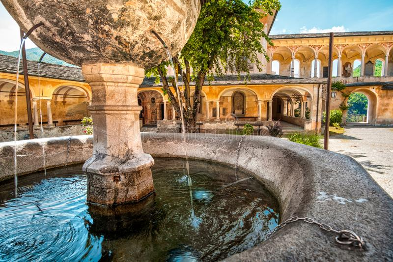Fountain gushing closeup quench thirsty water ancient architectu. Re kiosk stock image