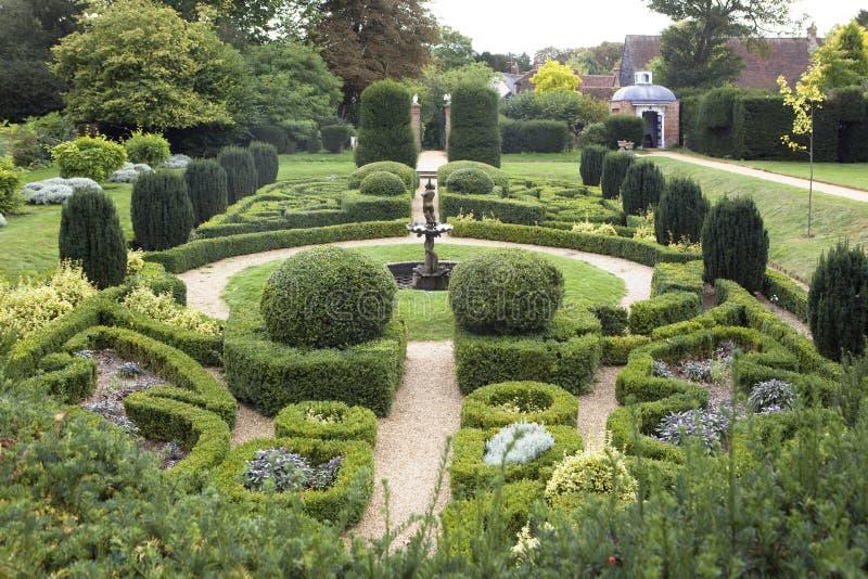 Fountain Hedge Maze stock photos