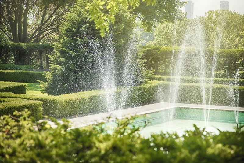 The fountain in High Park, Toronto, Canada royalty free stock images