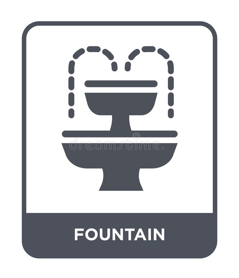 Fountain icon in trendy design style. fountain icon isolated on white background. fountain vector icon simple and modern flat. Symbol for web site, mobile, logo royalty free illustration