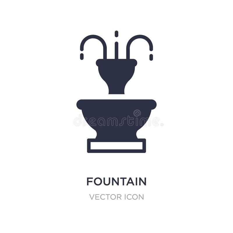 fountain icon on white background. Simple element illustration from City elements concept stock illustration