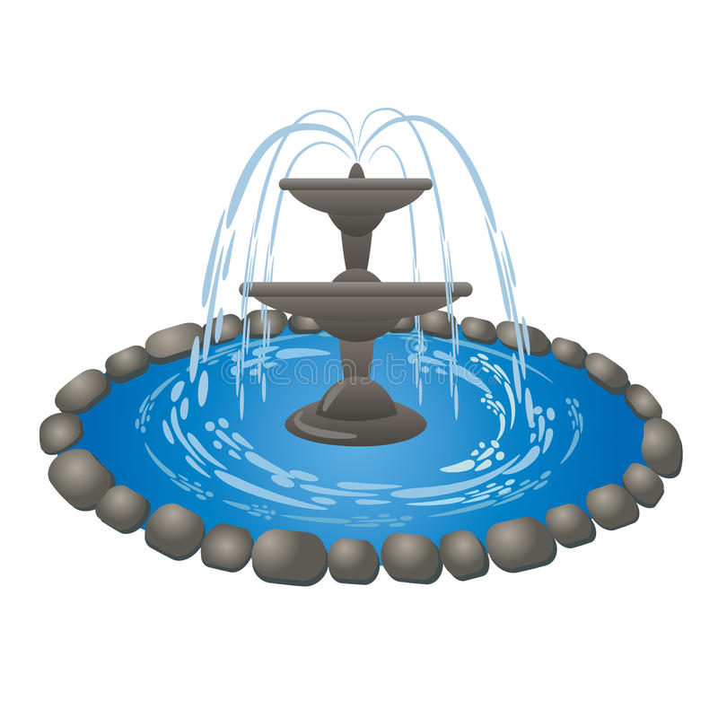 Fountain royalty free illustration