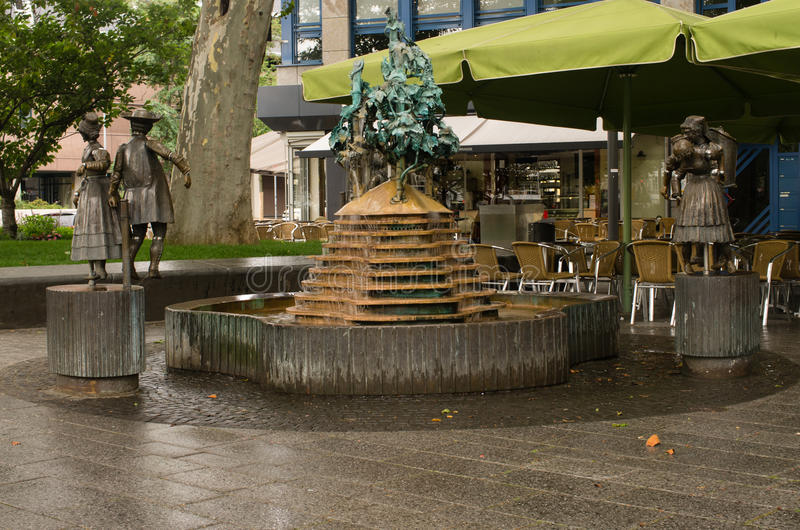 Download FOUNTAIN IN KOBLENZ stock image. Image of rhineland, carrying - 33067445