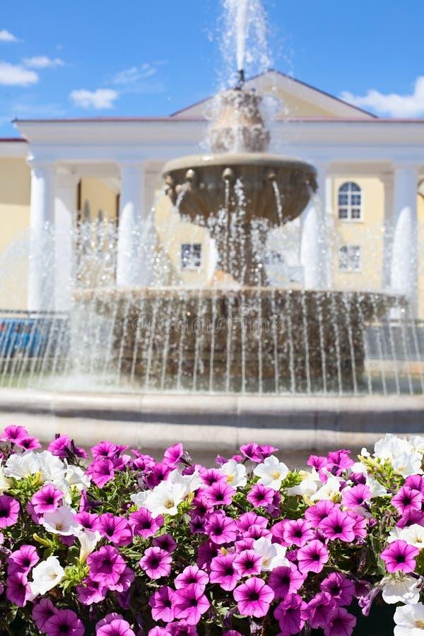 Fountain in Lipetsk city, Russia stock image
