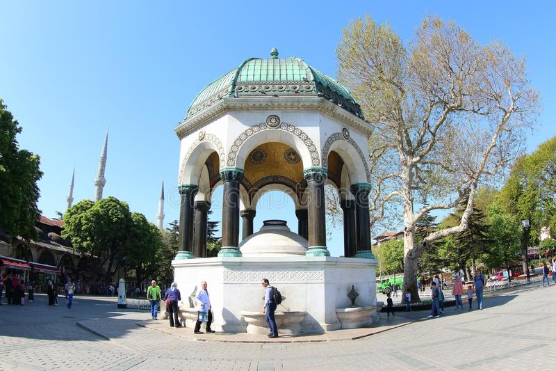 German Fountain, Istanbul. This fountain is made as a reminder of the second of the three visits of German Emperor Wilhelm II to Istanbul 1898. It was offered as royalty free stock image