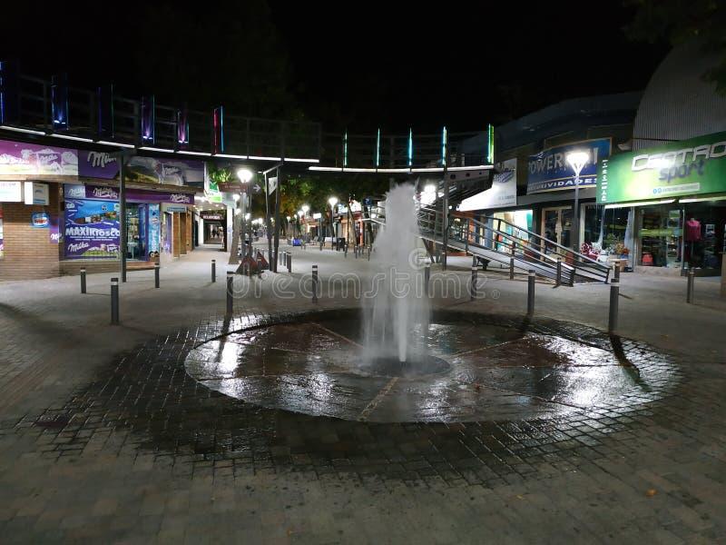 Fountain in main street Santa Rosa de Calamuchita stock photography