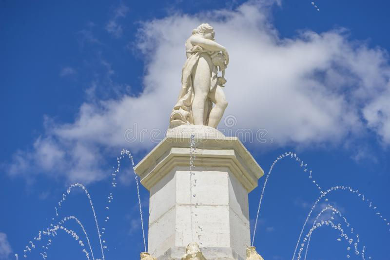 Fountain of the Mariblanca in Aranjuez close to the palace, Madrid (Spain) royalty free stock image