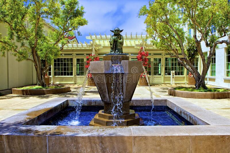 Fountain With Master Yoda Statue Free Public Domain Cc0 Image
