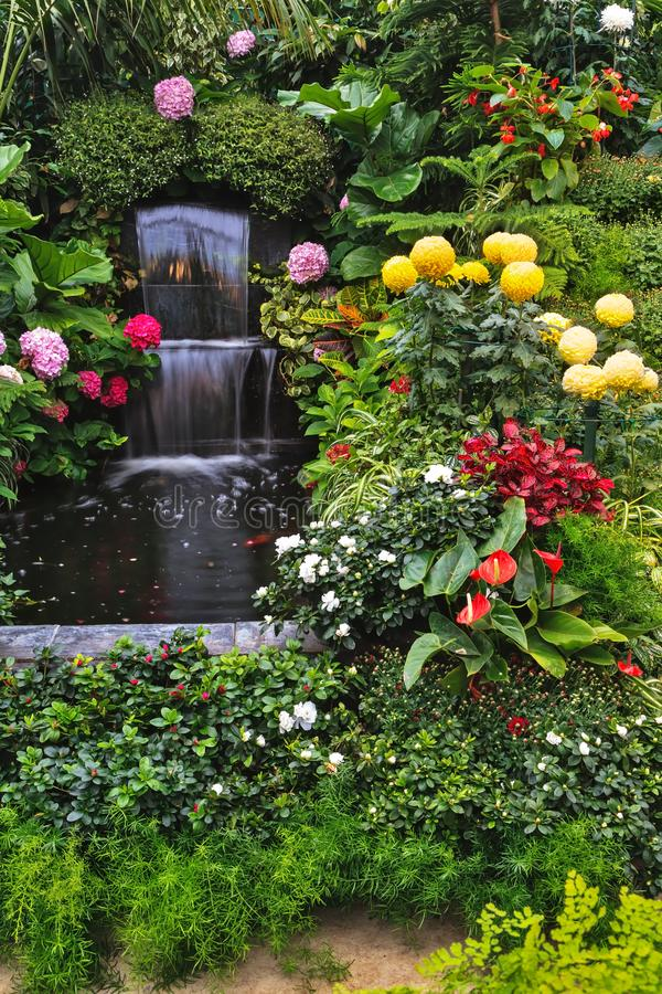 Fountain Mirror stream, Canada stock image