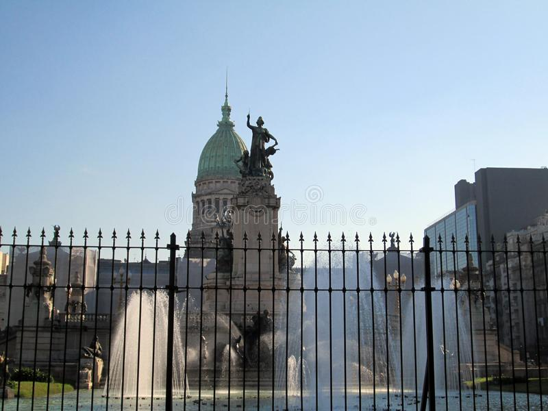 Fountain of the Monument to the Two Congresses.  stock photos