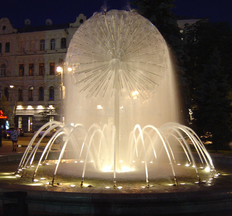 Fountain at Mydan, Kiev stock image