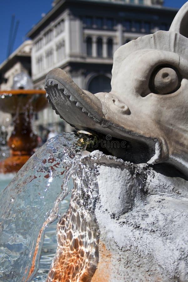 Fountain Near Palazzo Montecitorio. Stock Photos