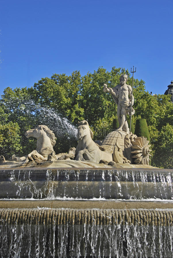 Download Fountain of Neptune stock image. Image of neoclassical - 21598693