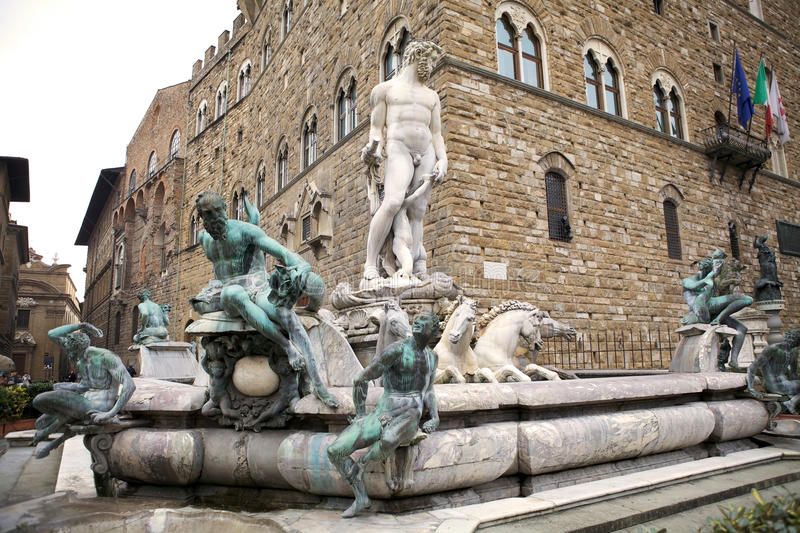Download Fountain of Neptune stock photo. Image of architecture - 24060348