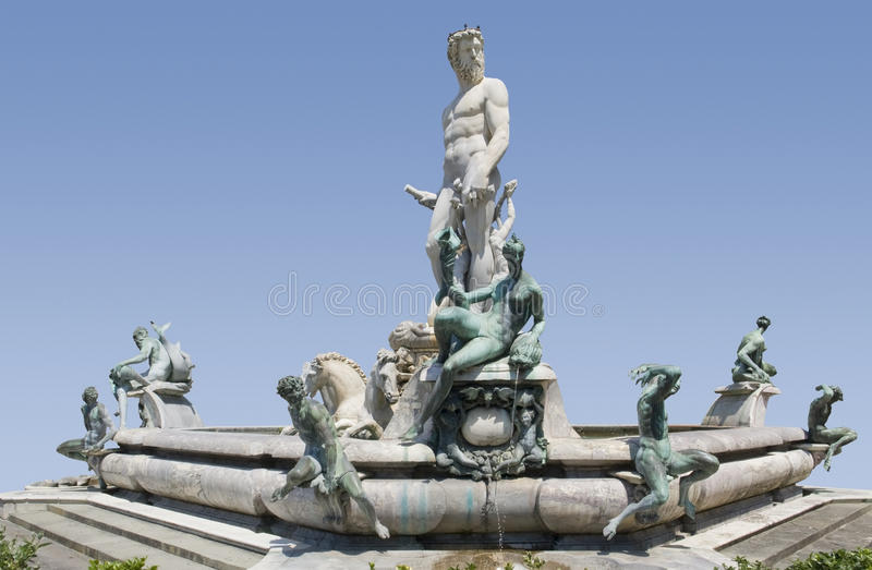 Download Fountain of Neptune stock photo. Image of neptune, satyr - 28342052