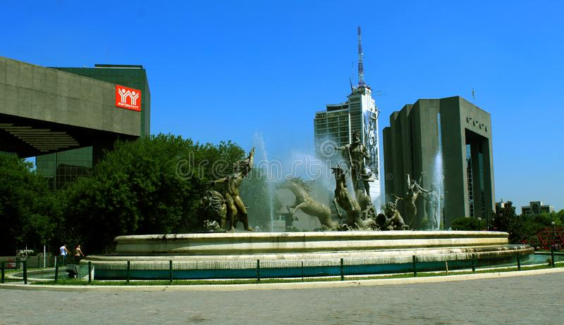 Fountain of Neptune in the city center royalty free stock photos