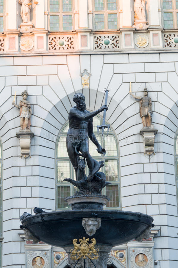 Download Fountain Of The Neptune In Gdansk Stock Photo - Image: 37096338
