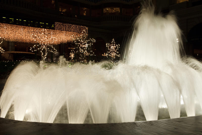 Download Fountain in night stock photo. Image of bright, attraction - 12458772