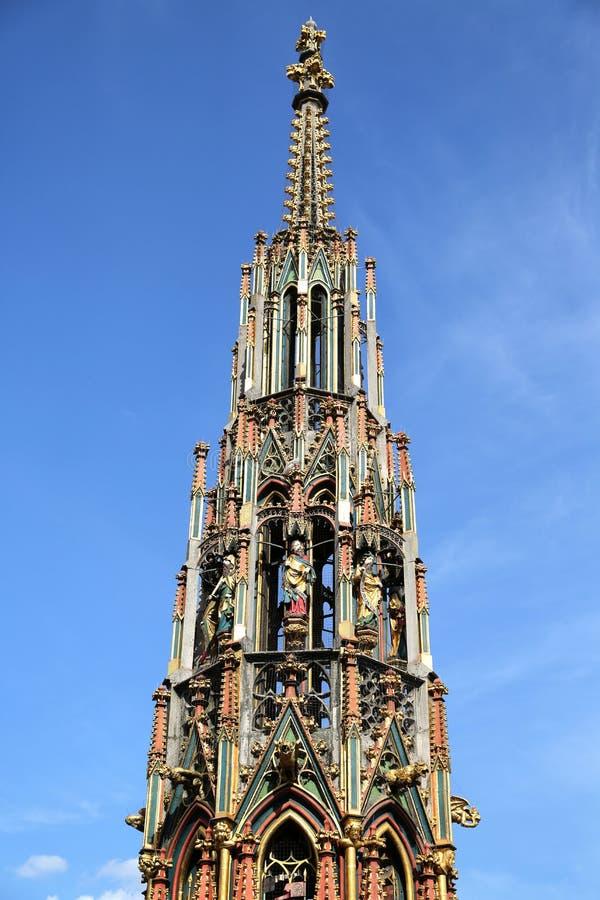 Fountain in Nuremberg, Germany